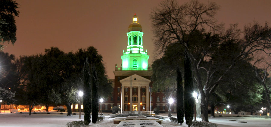 Pat Neff Hall in Winter