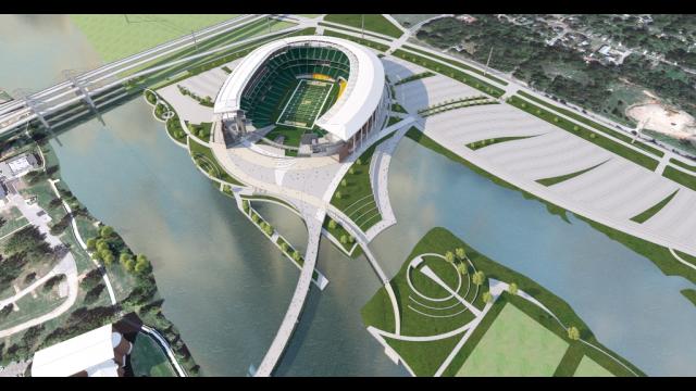 Baylor Stadium Rendering - Aerial View