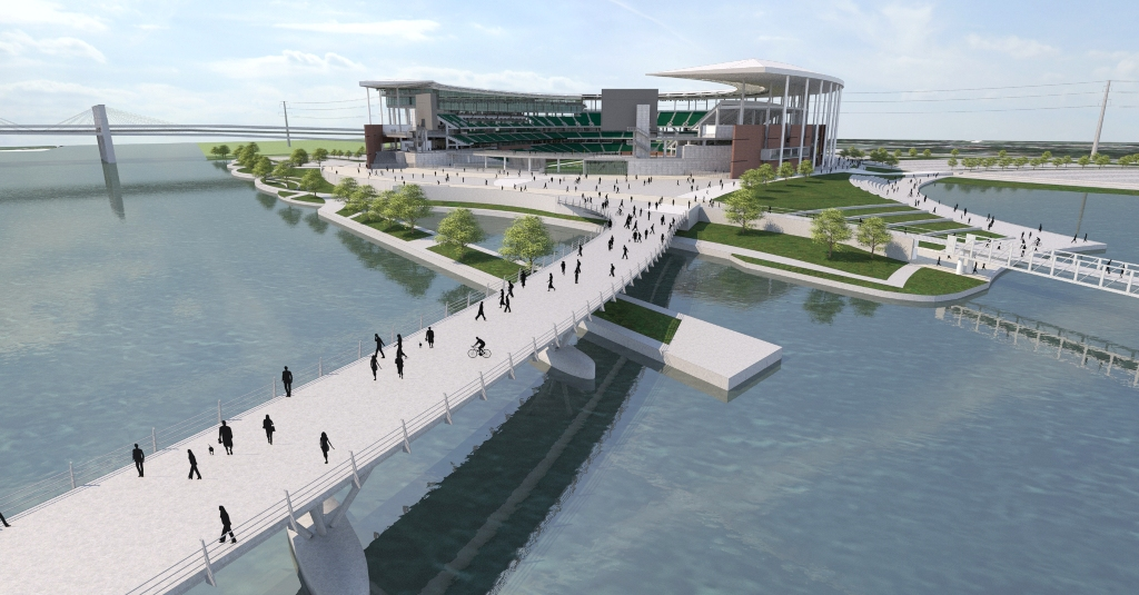 Baylor Stadium Rendering - Bridge