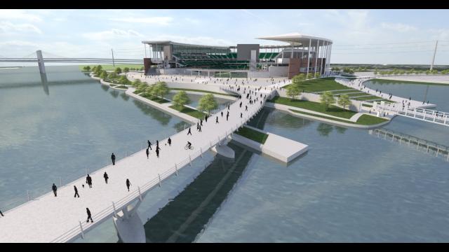 Full-Size Image: Baylor Stadium Rendering - Bridge