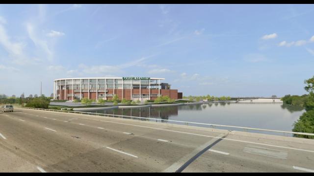 Full-Size Image: Baylor Stadium Rendering - Northbound I-35