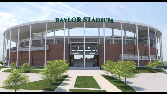 Baylor Stadium Rendering - North Entry Signage
