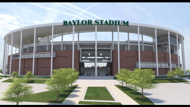 Full-Size Image: Baylor Stadium Rendering - North Entry Signage