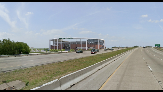 Baylor Stadium Rendering - Southbound I-35 View