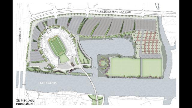Full-Size Image: Baylor Stadium Rendering - Site Plan