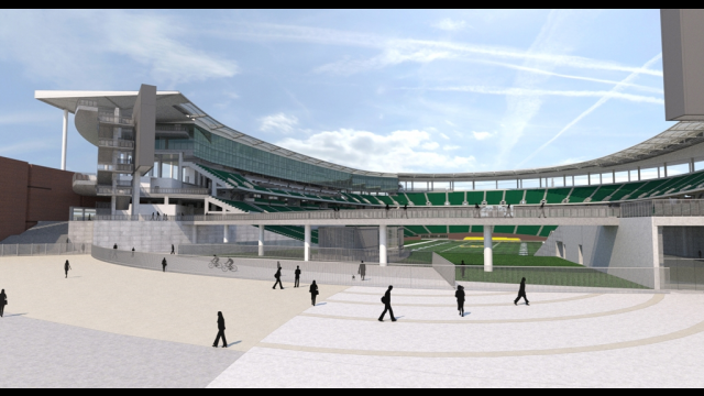 Baylor Stadium Rendering - South Plaza