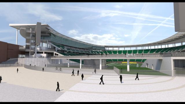 Full-Size Image: Baylor Stadium Rendering - South Plaza