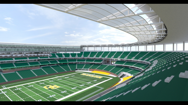 Baylor Stadium Rendering - East Upper Bowl