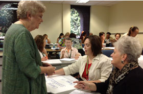 Dr. Joyce VanTassel-Baska with participants in 2012 Customized Instruction Institute