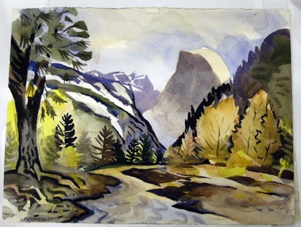 George Post, Double Sided Half Dome Yosemite/Sun Moon Lake.