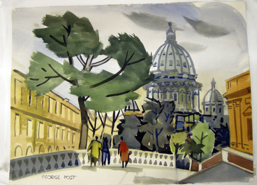 George Post, Vatican Gardens, Saint Peters, Rome, 1939.