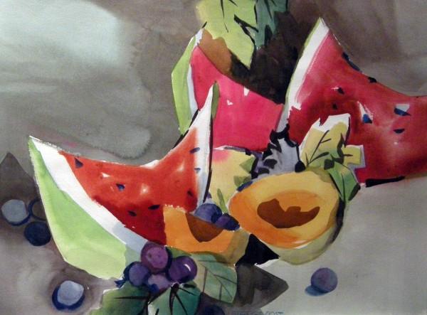 George Post, Watermelon Still Life.