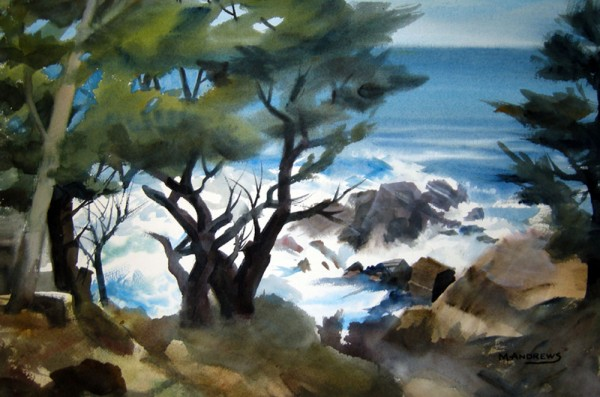 Marion Andrews, Big Sur with Monterrey Pine.