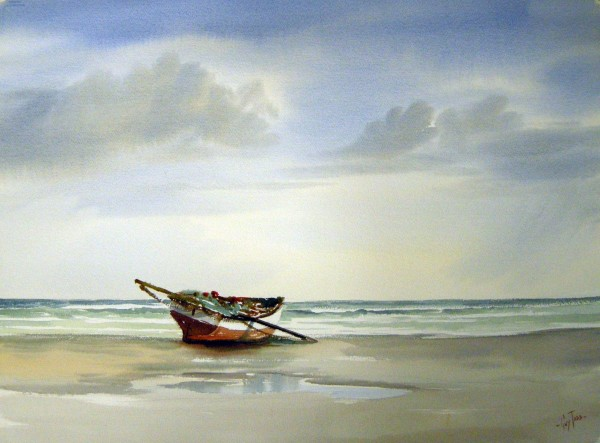 Guy Todd, Fishing Boat on a Beach, 1982.
