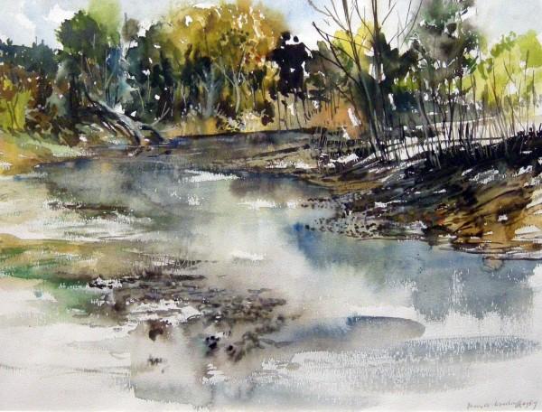 James Woodruff, River Landscape.