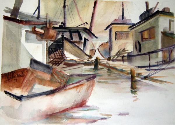 Margaret Bock, Boats, 1977.