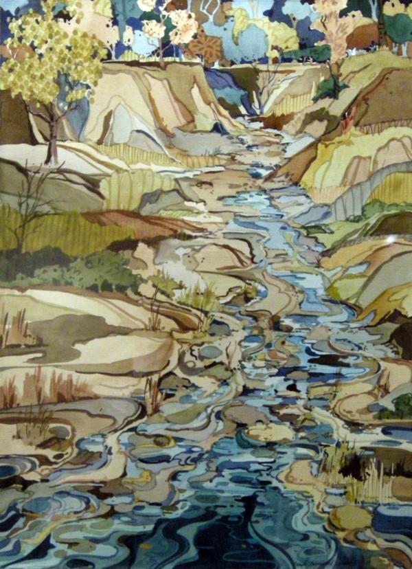 Teryl Speers, Brook and Rocks.