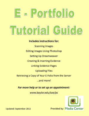 E-Folio Tutorial Guide Cover Image