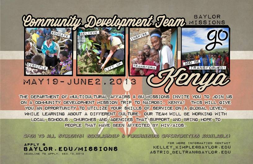 Kenya Mission Trip Flyer