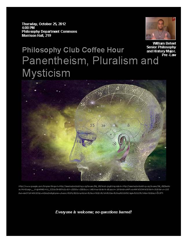 Philosophy Club, Oct 25