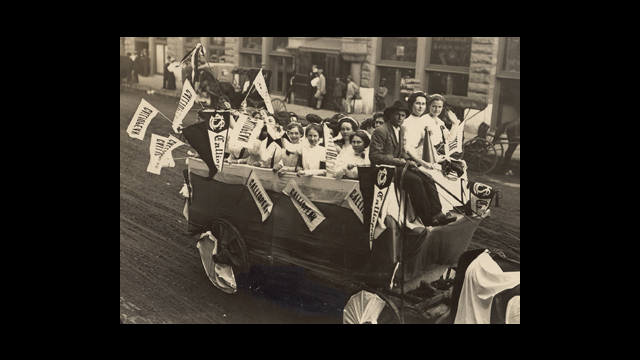 Baylor Homecoming Parade 1909 Photo