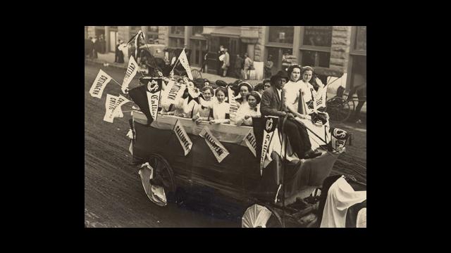 Baylor Homecoming Parade 1909 Photo