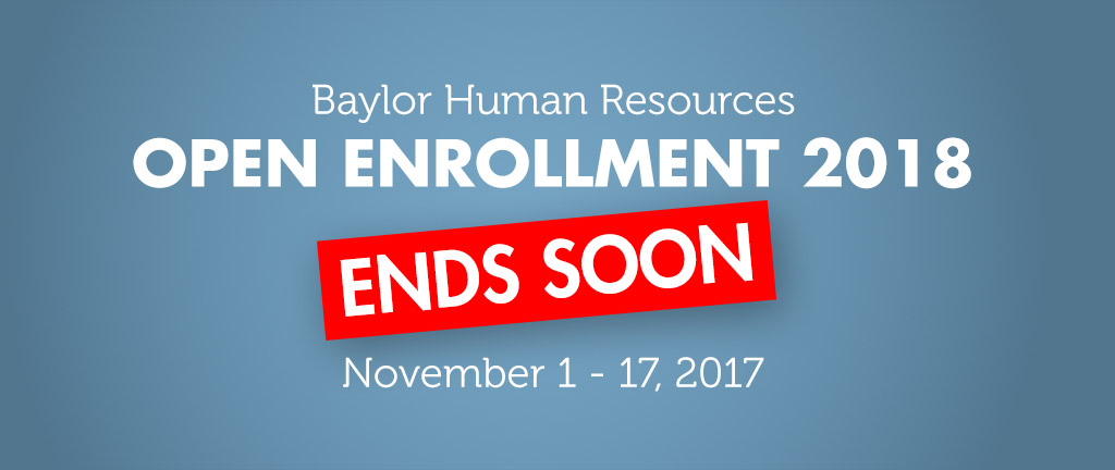 HR Open Enrollment - November 1-30, 2013