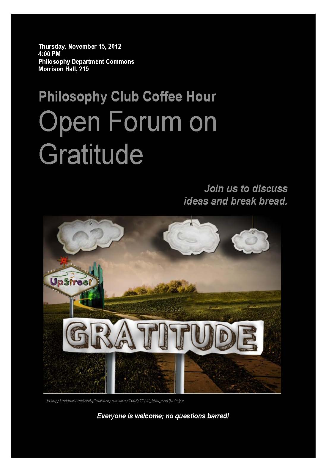 Philosophy Club, November 15