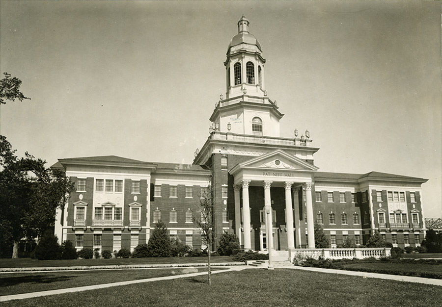 Pat Neff Hall - early 1940s - Then