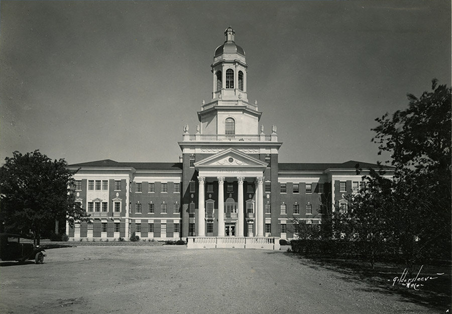 Pat Neff Hall - 1939 - Then
