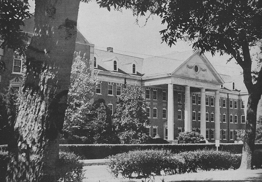 Memorial Residence Hall - Then