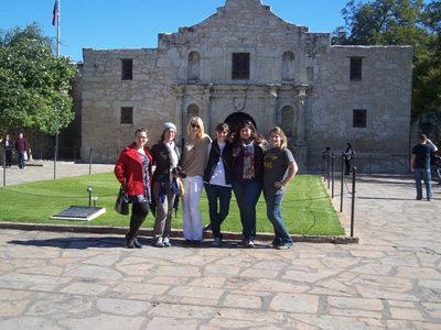 Historic Preservation Students at the Alamo.