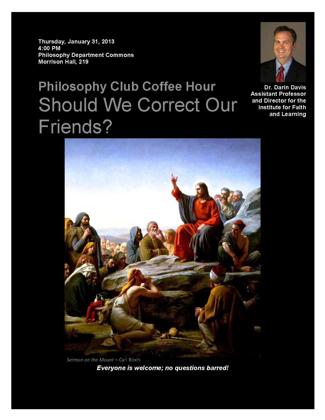 Philosophy Club; Jan. 31