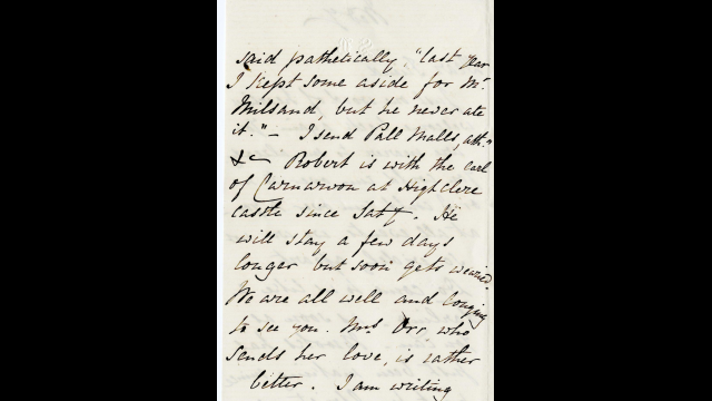 Sarianna Browning's letter to Joseph Milsand