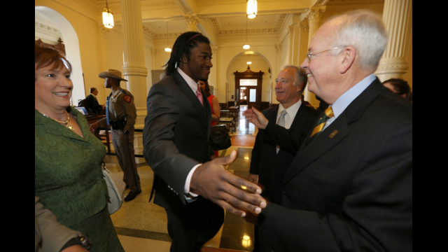 RGIII, with Rep. Patrick, President Starr, Sen. Watson