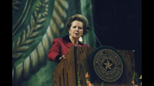 Margaret Thatcher at Baylor, Feb. 23, 1999