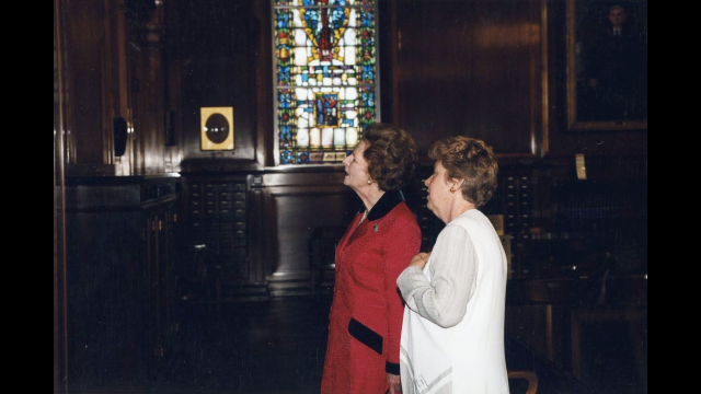 Margaret Thatcher at ABL, Feb. 23, 1999