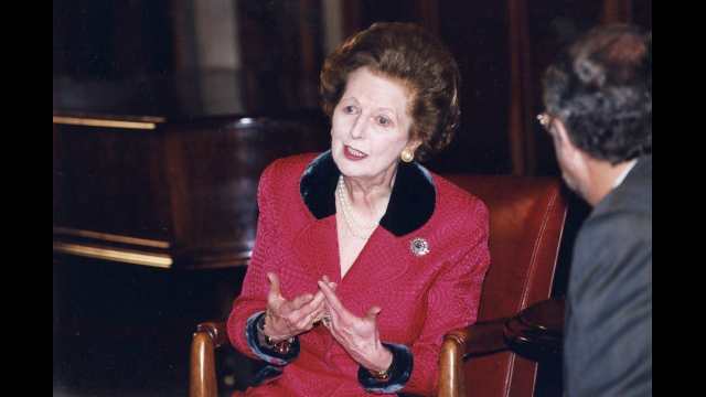 Margaret Thatcher Q&A with students, Feb. 23, 1999
