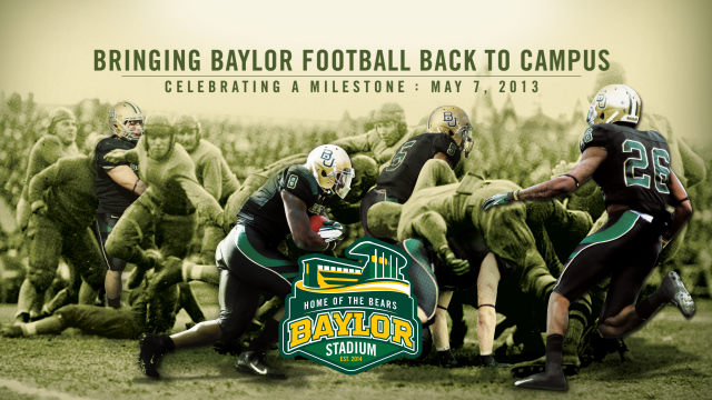 Baylor University Celebrates Football Stadium Fundraising and Construction Milestones