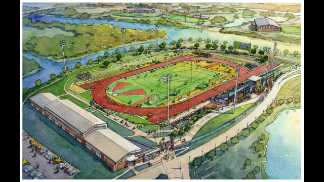 Artist's Rendering - Baylor Track and Field Stadium
