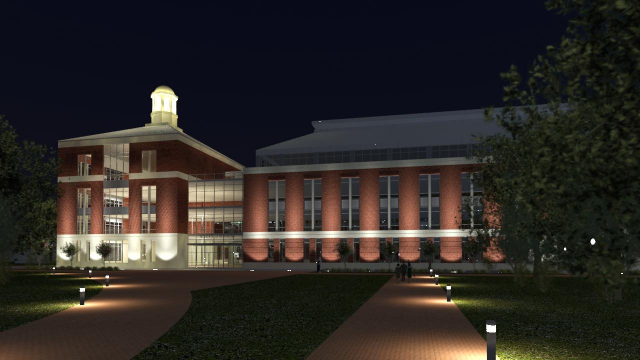 Baylor Business School Exterior Rendering