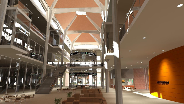 Full-Size Image: Baylor  Business School Interior Rendering