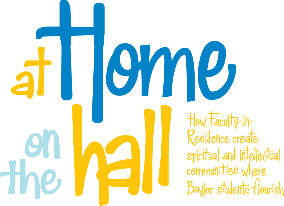 title text treatment: At Home on the Hall