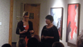 Dr. Katie Edwards and Director, Karin Gilliam give introductions