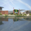 [Architectural Rendering: Alumni Events Center, Baylor Stadium, River View]