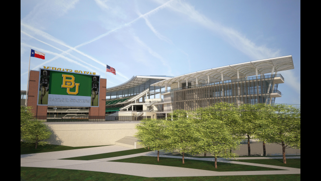 Architectural Rendering: Alumni Events Center, Baylor Stadium, Close Up
