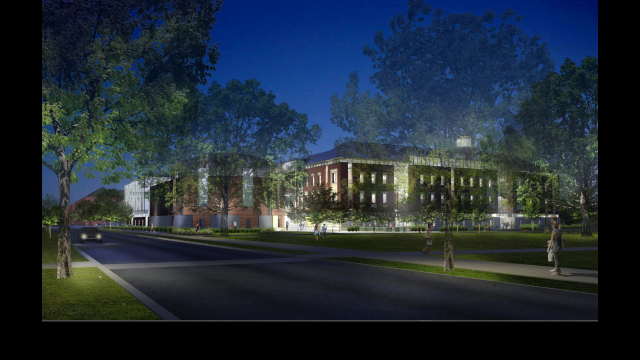 Architectural Rendering: HSB Foster Campus Exterior NW view from 3rd and Speight