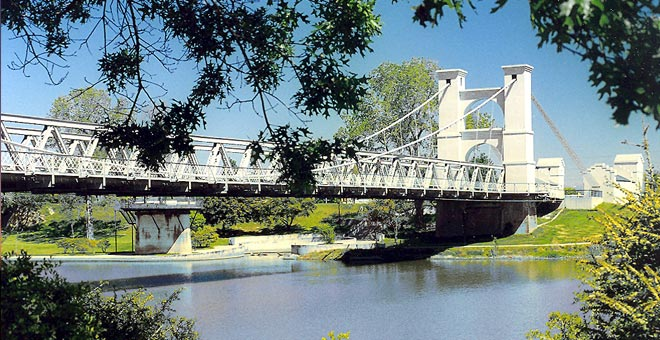 Suspension Bridge in Waco, Texas