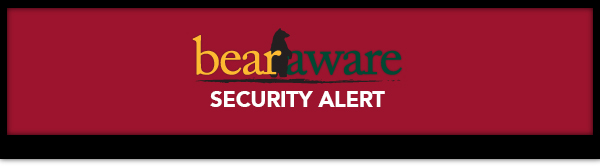 BearAware Secuity Alert