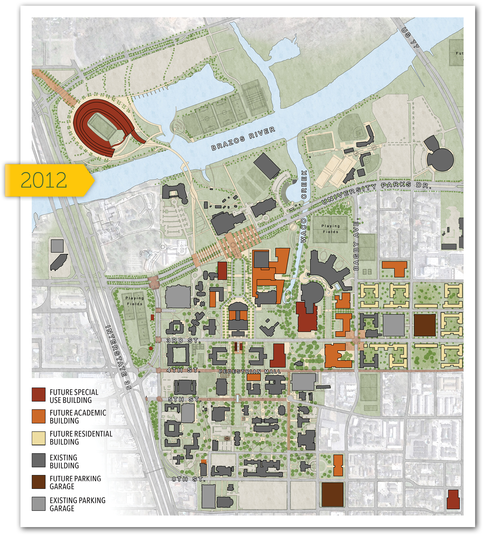 Baylor University Campus Map Dreaming of What's Next | Baylor Magazine, Fall 2013 | Baylor